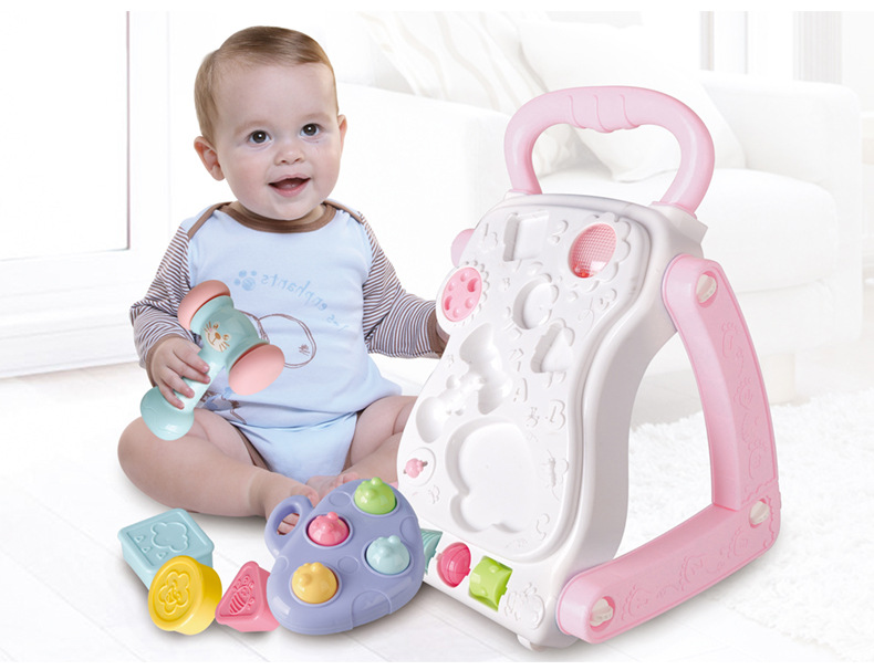 Multifunctional Baby Walker Toy Triangle Structure Anti side Flip 0 3 years old Stroller Can Be Turned Into A Game Table