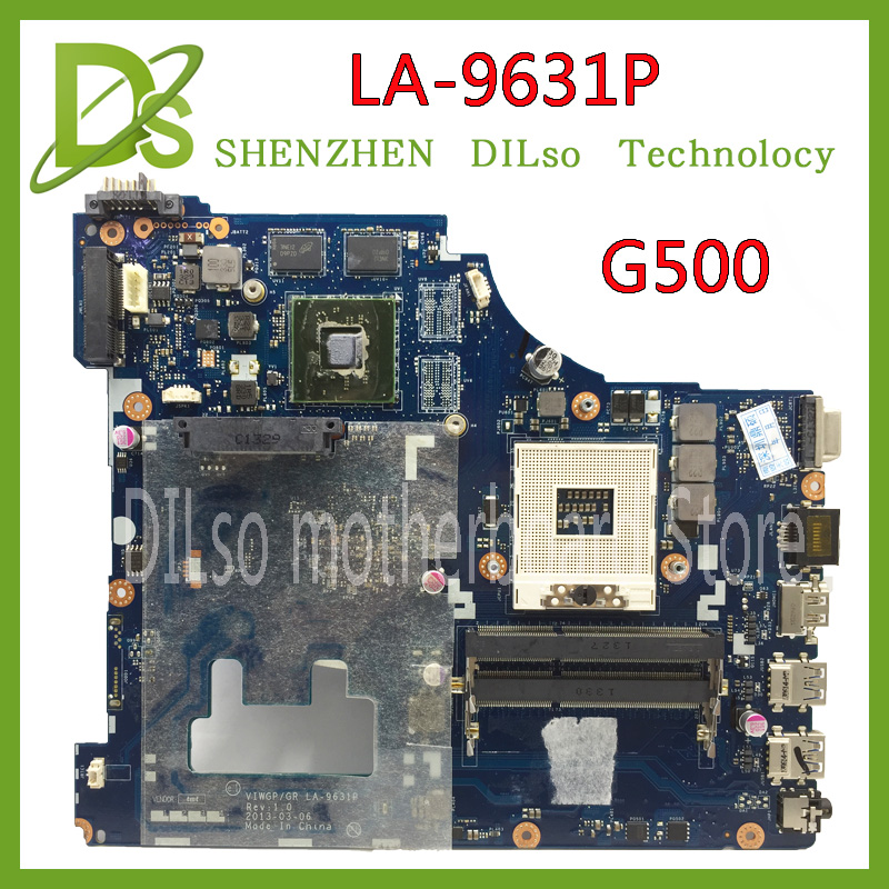 SHUOHU LA-9631P For Lenovo G500 Laptop motherboard VIWGP/GR LA-9631P REV:1.0 With GPU  HM70 ( Support For Pentium cpu only ) brand new ziwb2 ziwb3 ziwe1 la b092p rev 1 0 for b50 70 laptop motherboard mainboard with with sr1ek core i3 4005u