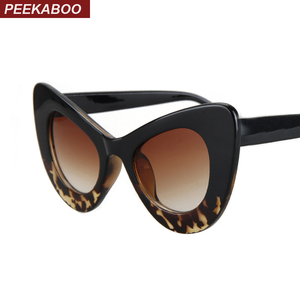 Peekaboo 2017 cat eye vintage sunglasses women top fashion white oversized sexy cat eye sunglasses for women black red lentes