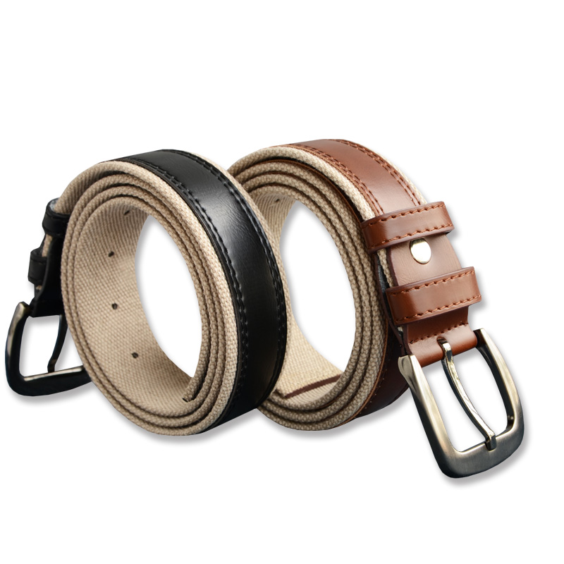 130cm Braided Woven Elastic Stretch Belt Wide Hot Sales Elastic Belt With Man Style From Factory Direct Sales Genuine leather