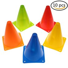 Training Cones for Kid Adult Sports Set of 10 Traffic 7 Inch Multipurpose Football Outdoor