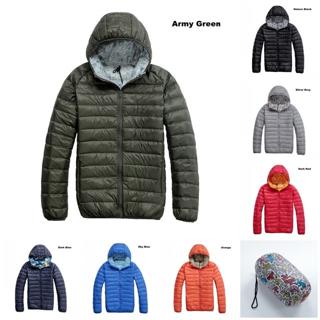 ed929528f4a 2014 UniqloStyle Men hoodie down jacket/Puffer parka/compact jacket/ultra  light