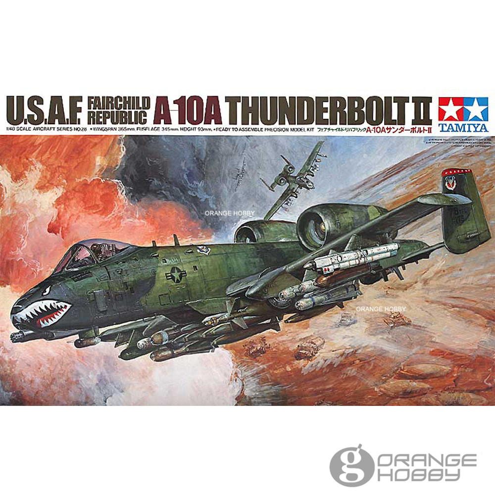 OHS Tamiya 61028 1/48 A10A Thunderbolt II Assembly Airforce Model Building Kits G цена