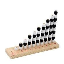 Bebé de Juguete Montessori 1-10 Pares e Impares Matemáticas Número Tablero de Madera Preescolar Temprana Niños Brinquedos juguetes