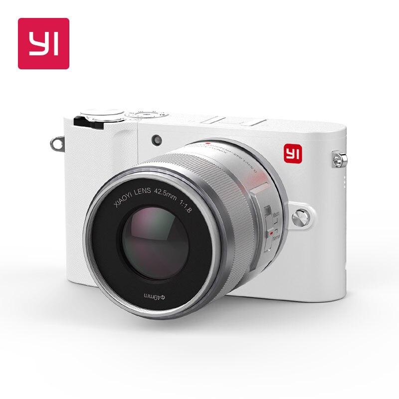 YI M1 2 объектив цифровой Камера Pro беззеркальных премьер зум ЖК-дисплей минималистский BLE WI-FI сырья 20MP видео Регистраторы международная верси...