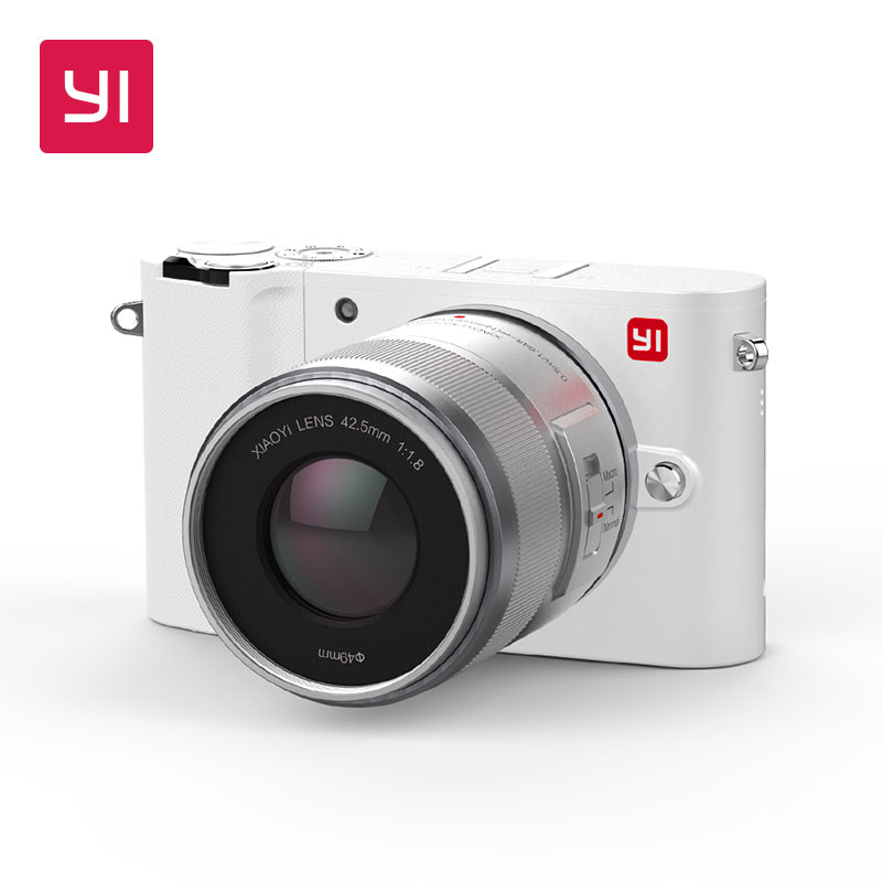 YI M1 Mirrorless Fotocamera Digitale Prime Zoom LCD 2 Lente Minimalista BLE WIFI GREZZO 20MP Video Recorder Internazionale Versione Bianca