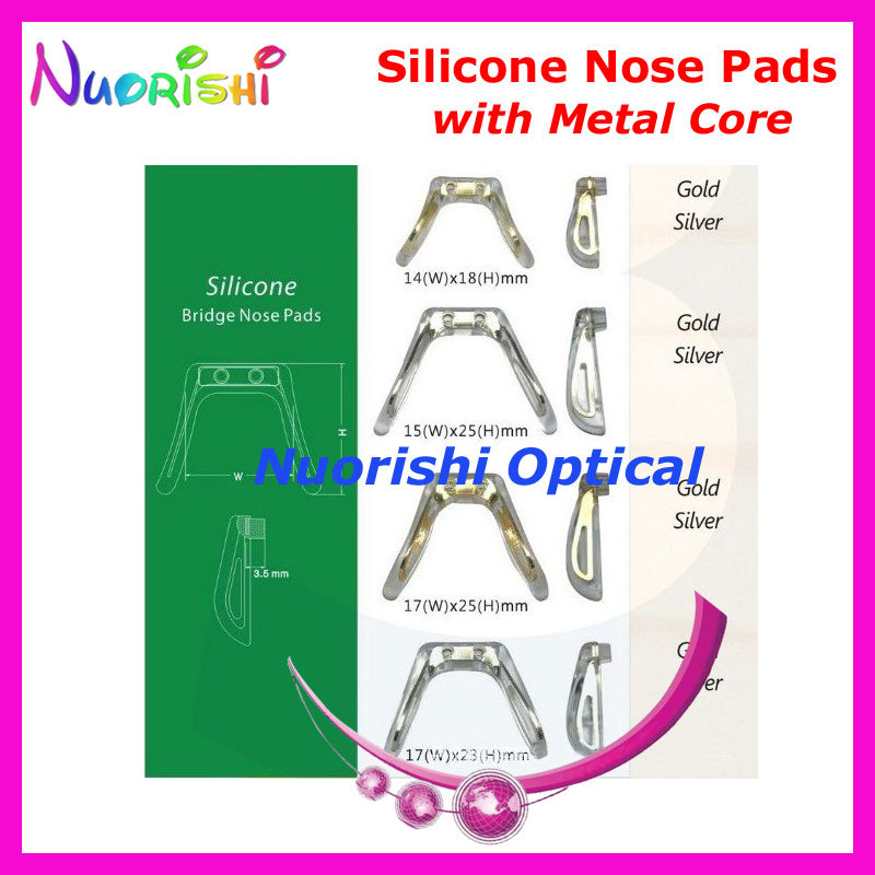 Sim Bridge Conjoined Silicone Nose Pads With Metal Core Eyeglasses Eyewear Nose Pads -4973