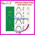 Sim puente Conjoined silicona almohadillas de nariz con núcleo de Metal anteojos gafas de almohadillas de nariz envío gratis