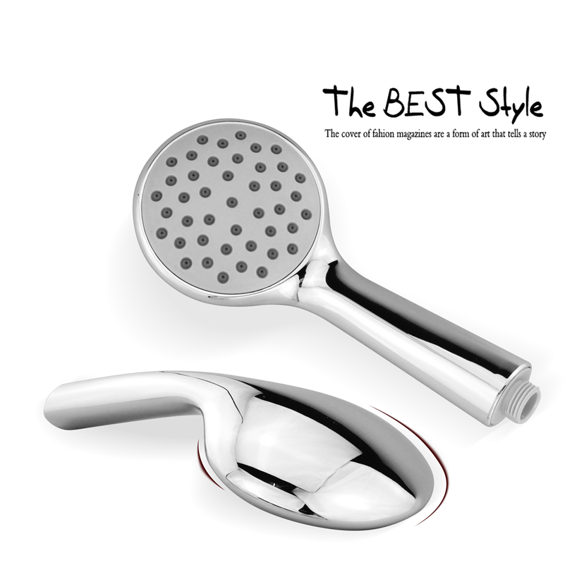 ABS Round Handheld Rainfall Shower Head water Saving High Pressure Chrome Plating hsh0014a