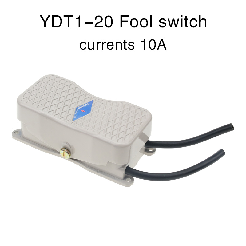 Foot switch pedal power controller ydt1-20 pedal switch reverse switch with double head line.