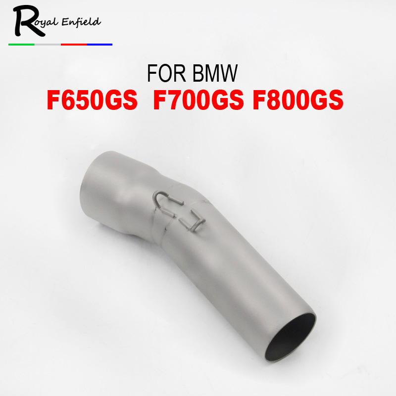 For BMW F650GS F700GS F800GS Motorcycle Middle Section Stainless Steel Exhaust Pipe Non-Destructive Mounted Muffler SysteM