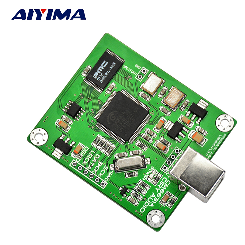 Aiyima CM6631A DAC Board Digital interface card USB To IIS SPDIF Output 24Bit 192K hi fi cm6631a 192khz to coaxial optical spdif convertor dac board 24bit usb 2 0