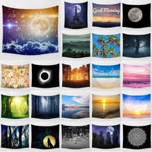 Unicorn tapestry blue sky star sea wall hanging tapestry home decoration large rectangle bedroom wall tapestry blue sky forest river printing home wall hanging tapestry for decoration