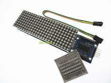 Free Shipping MAX7219 Dot Matrix Module For Arduino Microcontroller 4 In One Display with 5P Line