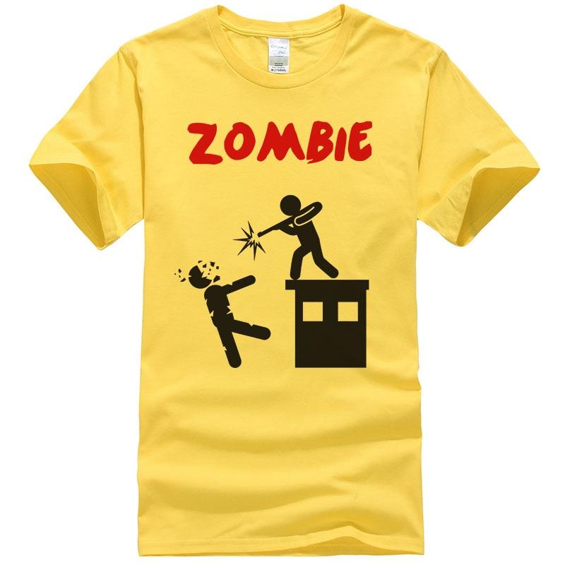 2017 D'été Hommes T-shirts Zombies Drôle hauts T-shirts Butin courtes manches t-shirt en coton décontracté Imprimé T-shirt grande taille LLPJU