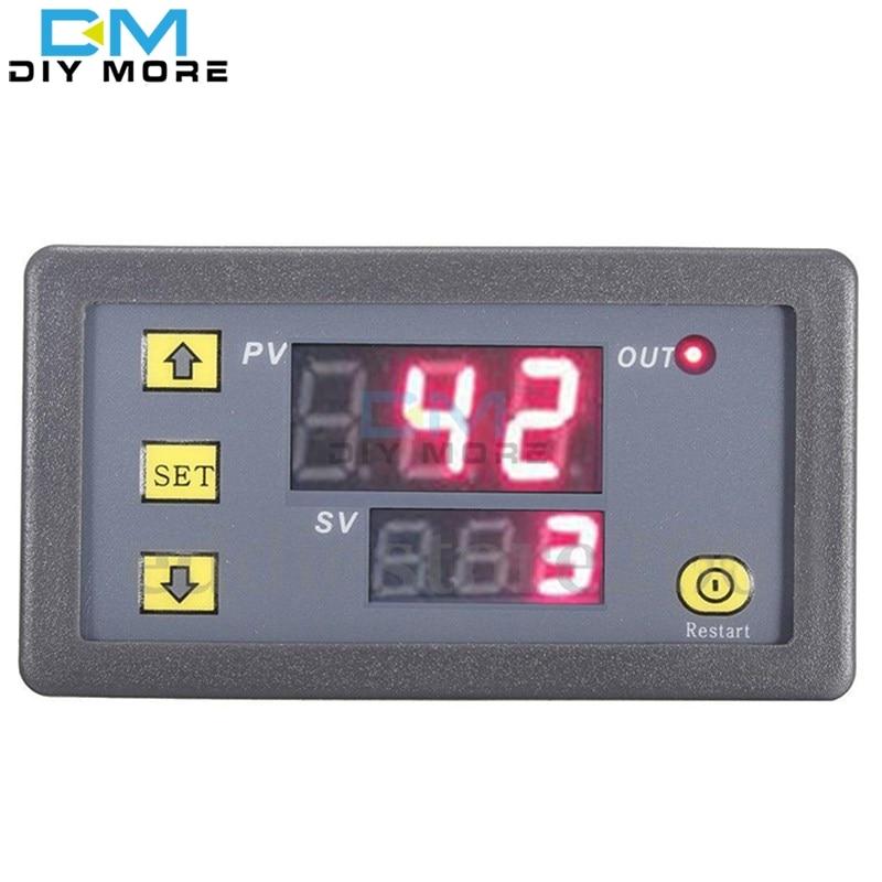12V Timing Delay Relay Module Cycle Timer Digital LED Dual Display 0-999 mi dc 12v led display digital delay timer control switch module plc automation new