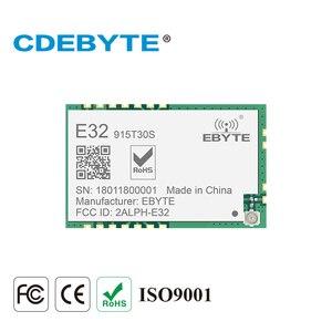 Image 1 - LoRa SMD 1 W 915 MHZ SX1276 E32 915T30S kablosuz alıcı modülü 30dBm Uzun Menzilli RF Verici Alıcı IPEX Konnektörü