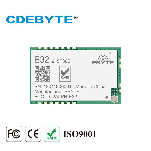 LoRa SMD 1 W 915 MHZ SX1276 E32 915T30S kablosuz alıcı modülü 30dBm Uzun Menzilli RF Verici Alıcı IPEX Konnektörü