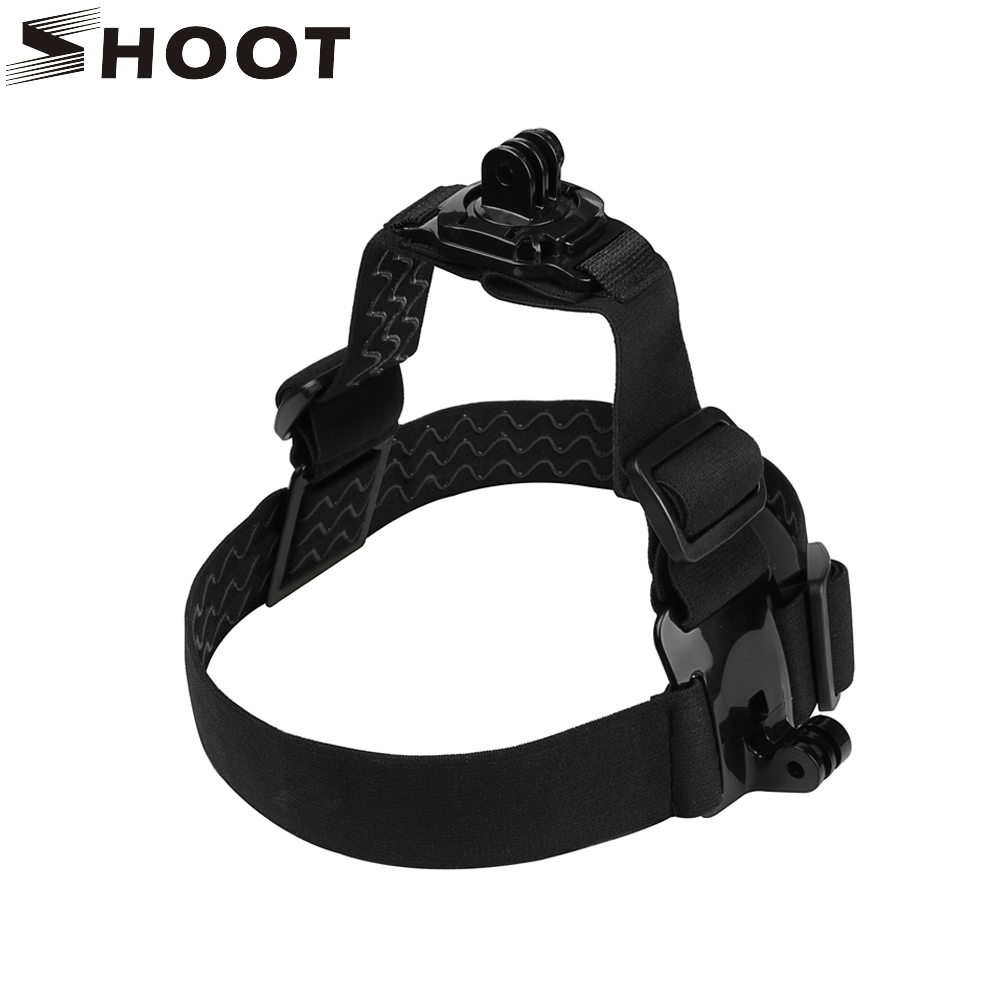 SHOOT Elastic Head Strap Mount Double Camera Strap for GoPro Hero Session 5 4 3 Xiao