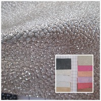 Flash Mirror Wrinkle Style 1 Mm PVC Synthetic Leather Fabric 19 Artificial Leather For Decorative Material