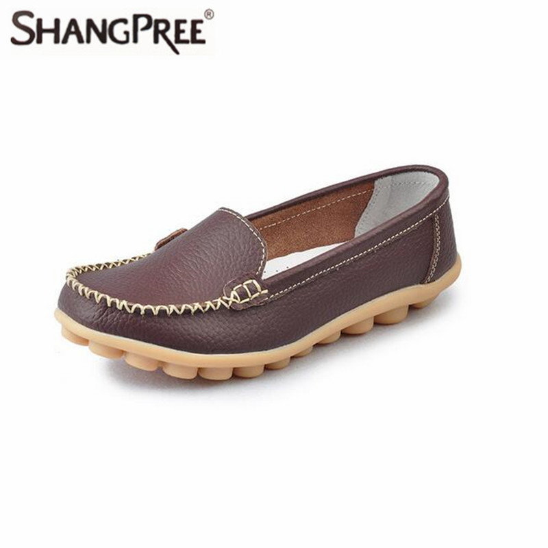 Large size 35-41 Hot sale shoes 2017 New Women flats Leather Shoes Lady Leather Slip On Casual Loafers 2017 summer hot sale pregnant women flats loafers shoes leather slip on shallow mouth pointed casual single shoes eu size 35 40