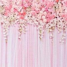 Frete grátis retro flores Vinil Backdrops Cenários de Fotografia Estúdio Foto Fundos Dos Namorados romântico do amor do casamento