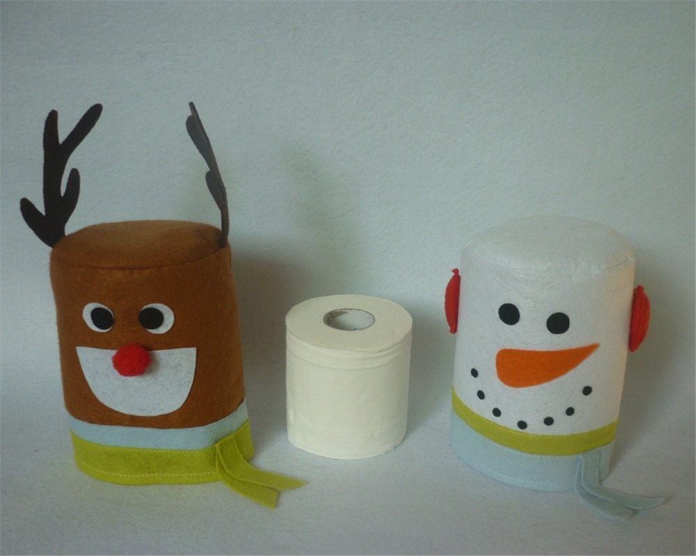 Amazing 2PC/LOT Merry Christmas Snowman And Elk Toilet Roll Paper Holder Bathroom  Tissue Boxes Paper Cover Home Decoration In Tissue Boxes From Home U0026 Garden  On ...
