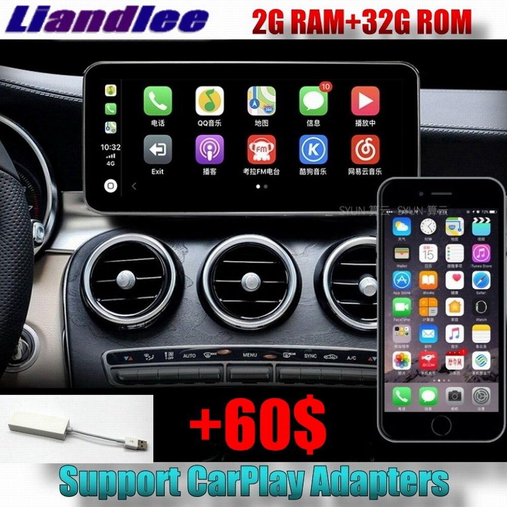 Lecteur multimédia de voiture Liislee NAVI pour Mercedes Benz classe C MB W205 2014 ~ 2018 adaptateur voiture Radio stéréo GPS Navigation