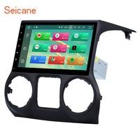 Seicane 10,1 8 core 1 DIN Android 9,0 Bluetooth gps автомобиля multimedia Stereo для JEEP Wrangler с Оперативная память 4G флэш 32G AUX WI FI