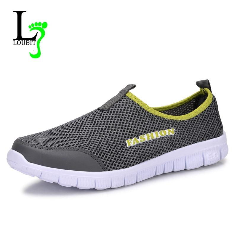 Мужская обувь 2018 летние Спортивная обувь удобные Для мужчин повседневная обувь с дышащей сеткой Спортивная обувь для Для мужчин обувь плюс размеры 38–46