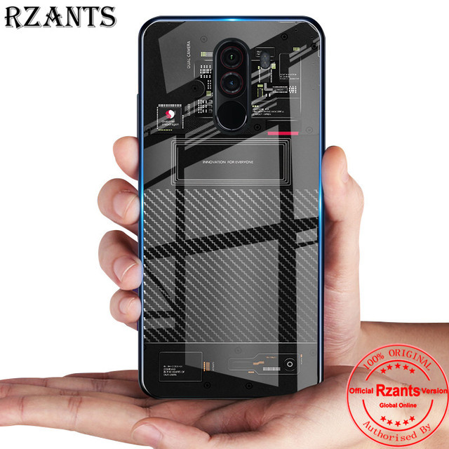 huge discount 2c6b2 2d8a1 US $3.99 |Rzants Phone Case For Xiaomi Pocophone F1 Glass Back Thin Slim  Exploratory Version Hard Back Cover For Xiaomi Pocophone F1-in Half-wrapped  ...