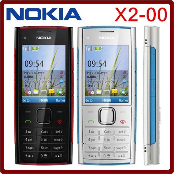 Цена за X2 Оригинал Nokia X2 00 Bluetooth FM JAVA 5MP Разблокированным Мобильных Телефонов Горячий продавать в Польше Бесплатная доставка