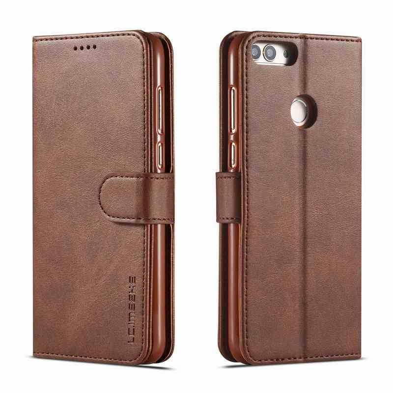 Case For Huawei P Smart Cover Case Magnetic Flip Luxury Vintage Plain Wallet Leather Phone bag For Huawey Psmart 2018 2019 Coque