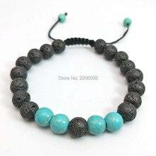 Dropship lava stone tiger eyes Bead Buddha Bracelet For Men Fashion Male Punk Jewelry Bracelets & Bangles