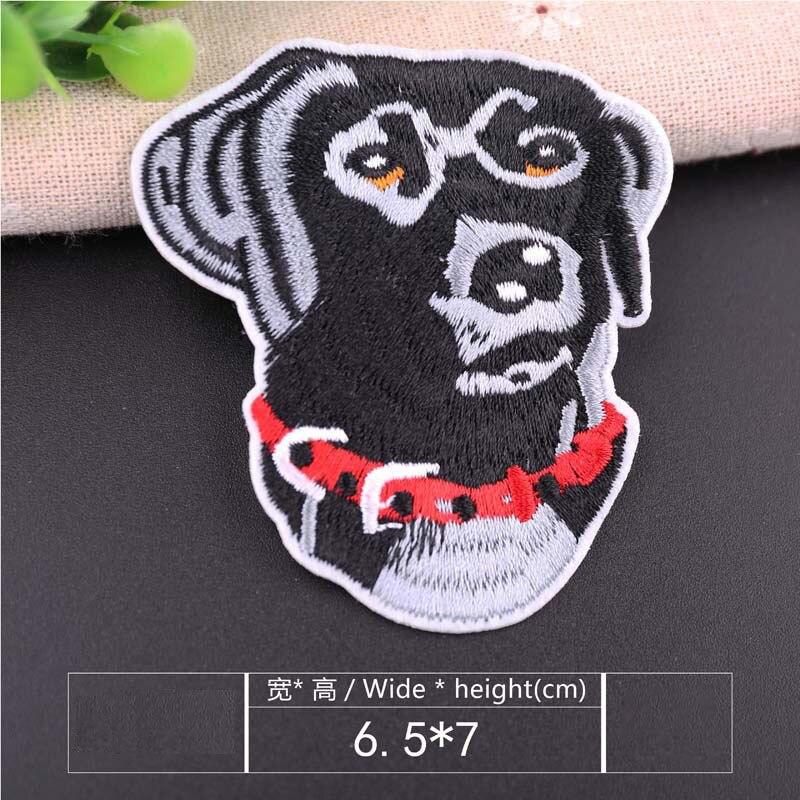 1 шт., нашивка для вышивания собаки, термопередача, гладить на вышивать на пачках для одежды DIY, футболка, тканевая наклейка, декоративные аппликации 47267