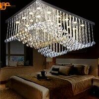 new modern design K9 crystal lighting remote control chandelier for living room lamp 100% guarantee