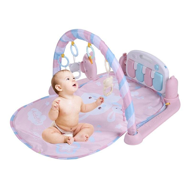 Nouveau bébé coup de pied jouer Piano Gym Fitness cadre Piano avec pédales enfants jeu de musique jouer Gym jouet pour 0-1 an bébé