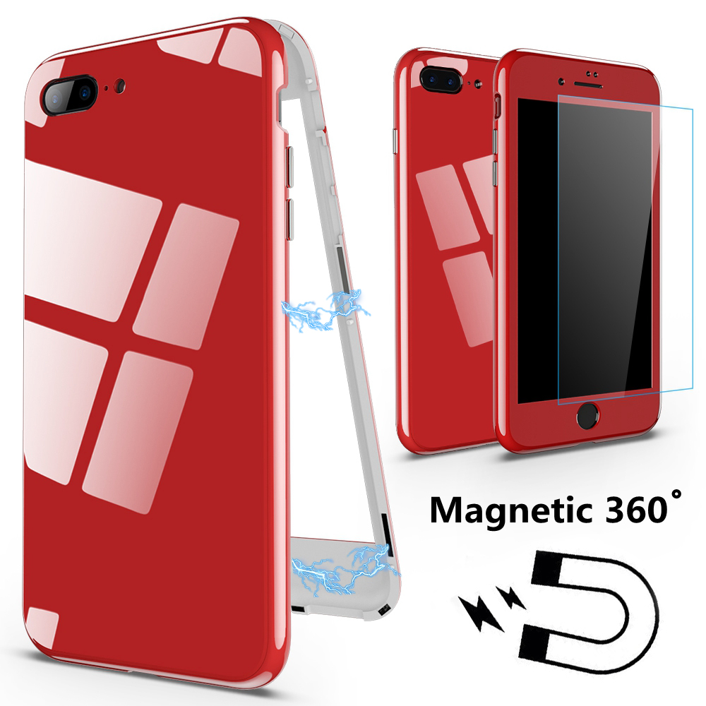 360 Magnetic Phone Case For iphone 6 s 6S plus iphone XS Max 7 Plus Luxury Cover Coque For iphone 8 plus iphone XR XS X 10 Cases iPhone XR