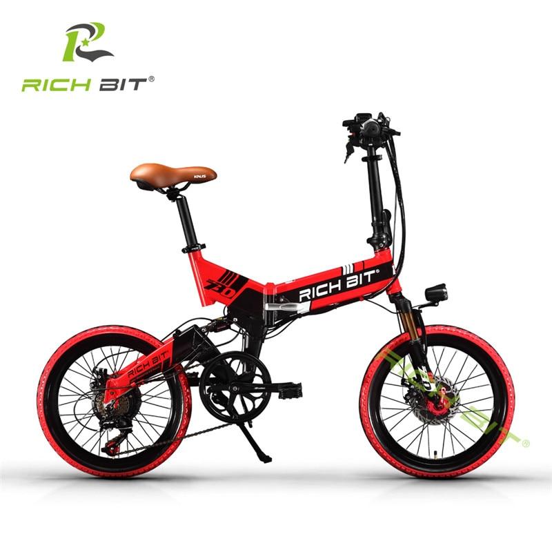 RichBit Mtb ebike 48 V 8AH Baterai Tersembunyi Lipat Sepeda Listrik 7 - Bersepeda - Foto 2