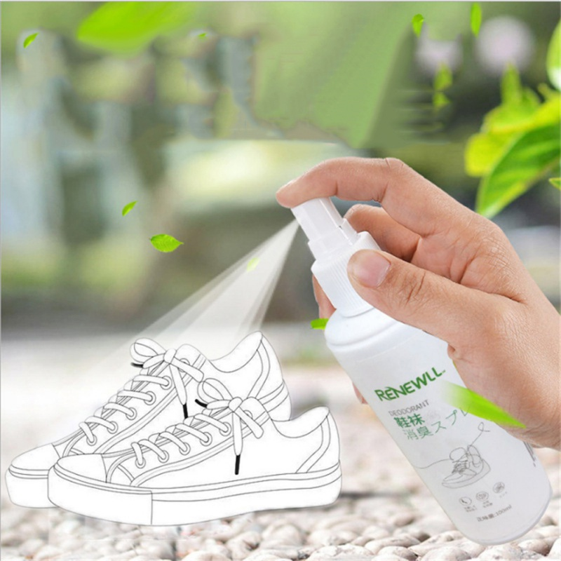 100ml Shoe Socks Foot Deodorant Odor Spray Eliminates Odor Anti Bacterial Anti-fungal Shoes Refresher Deodorant