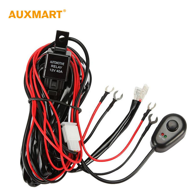 Auxmart 2M DC12V 40A Wiring Harness Loom Kit Fuse Relay On off Switch Connect for 12v_640x640 auxmart 2m dc12v 40a wiring harness loom kit fuse relay on off  at gsmx.co