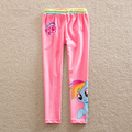 Girl wear cultivate one's morality children cotton pants outside wide sideband printed beautiful princess pencil pants k726