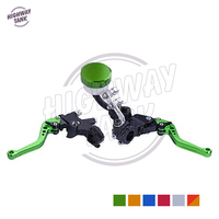 7/8 22mm Motorcycle Brake Clutch Master Reservoir Lever case for Kawasaki ZX12R ZX7R ZX600 Yamaha YZF R6 R1 1998 2012