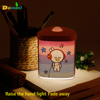Intelligent Lamp Bedside Wallpaper Induction Lamp LED Charging Night Lights Fade Off Gradually Soft Unplugged