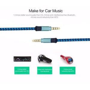 Image 2 - 1,5 m 3 m palo mágico de Audio de hombre hombre de Nylon AUX de grabación de audio para teléfonos móviles cable de audio del coche