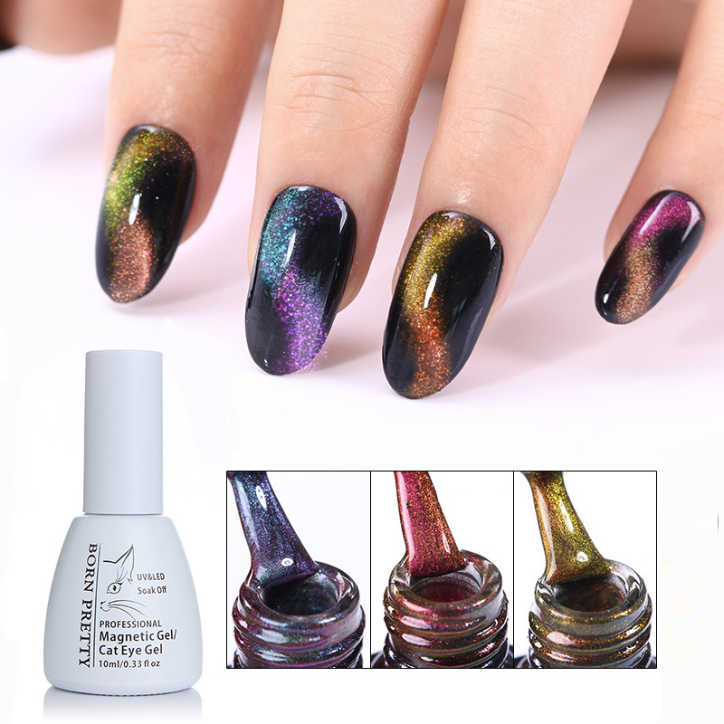 BORN PRETTY 5ml/10ml 3D Chameleon Cat Eye Magnetic Gel Soak Off UV Gel Polish Magnet Board Manicure Nail Art Decoration