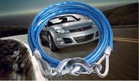 4 Meters 6 Tons Car Towing Rope Steel Wire Traction Rope Emergency Equippment With Pull Rope