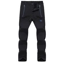 2018 Winter Autumn Thicken Fleece Pants Men Waterproof Softshell Quick Dry Pants joggers Sweatpants Men Pants