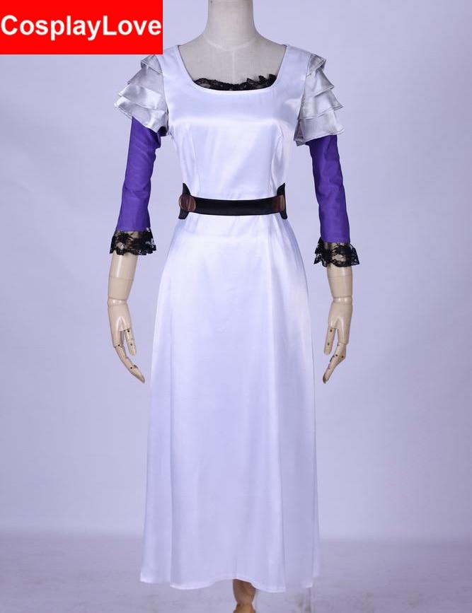 Tokyo Ghoul Rize Kamishiro White Dress Cosplay Costume Custom made For Christmas Halloween