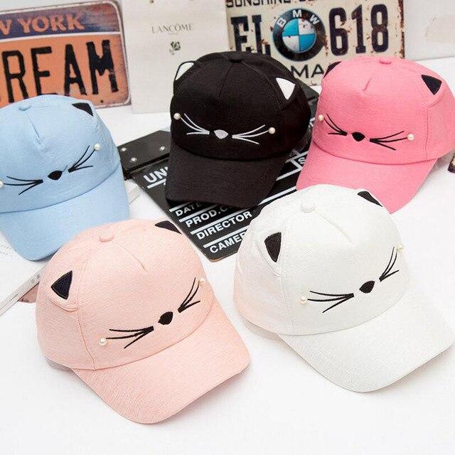 2017 Baby girl милые ухо углу бейсболка ребенок отскок лето регулируемая шляпа солнца ребенок хип-хоп шляпа
